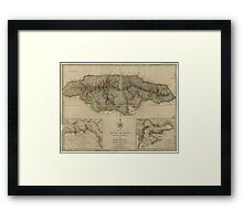 Map of Jamaica (1775) Framed Print