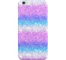 Cyan Pink Abstract Pattern iPhone Case/Skin