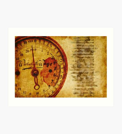Kitchen Scale Art Print