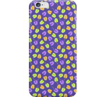 Green Orange Leaves Pattern iPhone Case/Skin