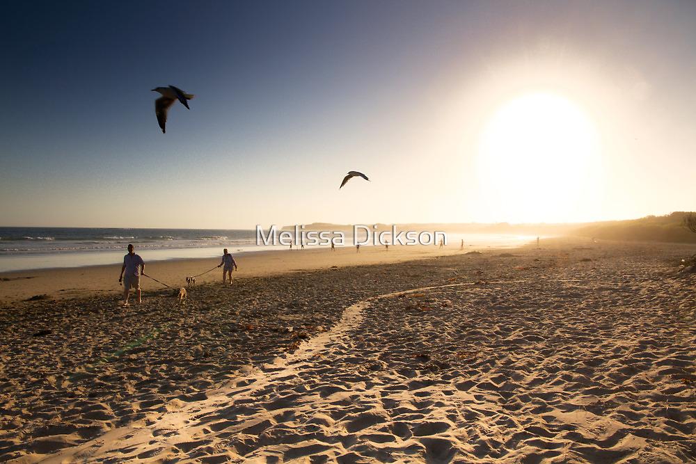beach sunset by Melissa Dickson