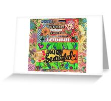 Beauty Blossoms From Within Greeting Card