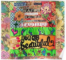 Beauty Blossoms From Within Poster