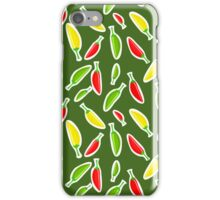 Red Peppers Pattern iPhone Case/Skin