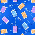 Phones on Blue Background by kotopes
