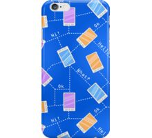 Phones on Blue Background iPhone Case/Skin