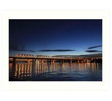 Iron Cove Bridge at dusk Art Print