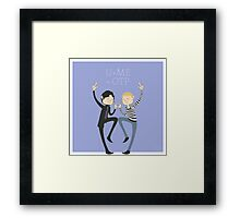 U+ME=OTP JOHNLOCK Framed Print