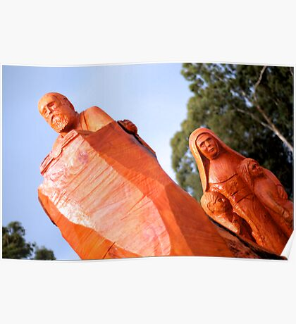 Mary MacKillop Wood Carvings Poster