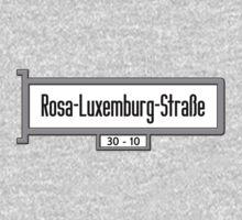 Rosa-Luxemburg-Strasse, Berlin Street Sign, Germany One Piece - Short Sleeve