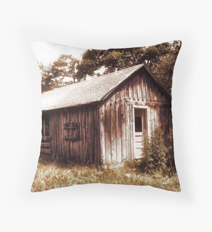 Spavinaw Shed Throw Pillow