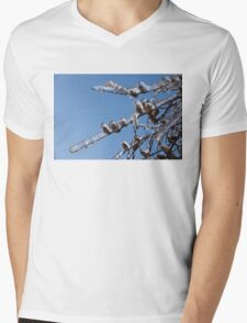 Mother Nature's Christmas Decorations – Glistening Twigs and Pine Cones Mens V-Neck T-Shirt