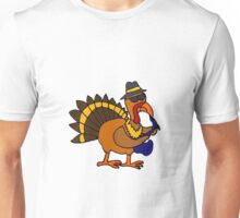 Funky Cool Turkey Playing Saxophone Unisex T-Shirt
