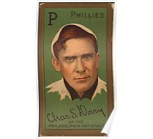 Benjamin K Edwards Collection Charles S Dooin Philadelphia Phillies baseball card portrait Poster