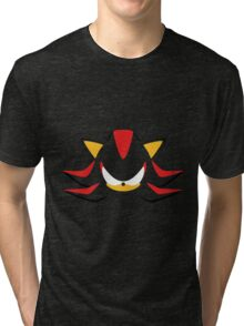 Shadow the Hedgehog Minimalistic Design Tri-blend T-Shirt