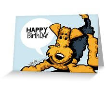 Airedale Terrier Funny Happy Birthday Cards Greeting Card