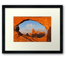 Turret Arch through the North Window, Arches National Park Framed Print