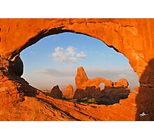 Turret Arch through the North Window, Arches National Park Photographic Print