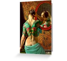 Woman in front of a mirror Greeting Card