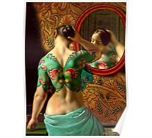 Woman in front of a mirror Poster