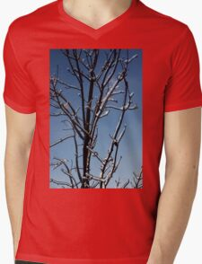 Mother Nature's Christmas Decorations - Icy Twig Jewels Mens V-Neck T-Shirt