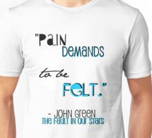 the fault in our stars quote shirt Unisex T-Shirt