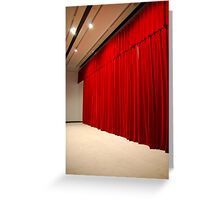 Theater stage curtains Greeting Card