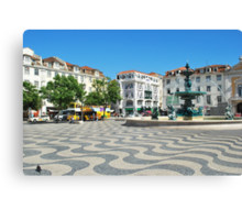 Lisbons downtown Canvas Print