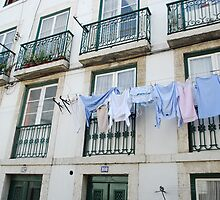 Clothes drying at the window, Lisbon by luissantos84