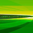 Green Planet Landing Strip by Fara