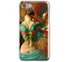 Woman in front of a mirror iPhone Case/Skin