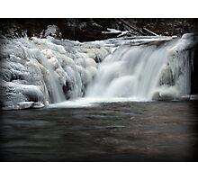 Frosty Falls Photographic Print