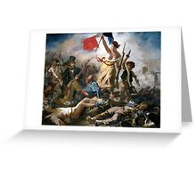 Liberty Leading the People by Eugène Delacroix (1830) Greeting Card