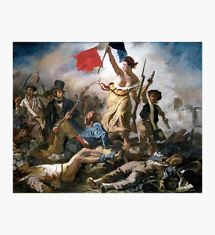 Liberty Leading the People by Eugène Delacroix (1830) Photographic Print