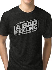 That Same Old Feeling (White on Black) Tri-blend T-Shirt