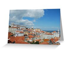 Lisbon cityscape Greeting Card