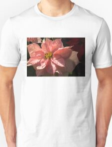 Sunny Pink Poinsettia - Vivacious Christmas Greetings T-Shirt
