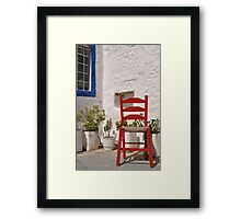 Greek chair Framed Print
