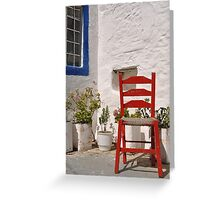 Greek chair Greeting Card