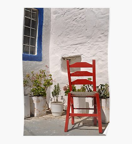 Greek chair Poster