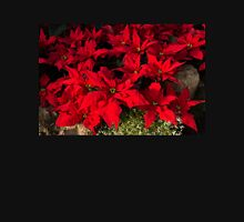 Happy Scarlet Poinsettias Christmas Star Womens Fitted T-Shirt