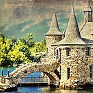Boldt Castle  Power House on Heart Island  by Melissa Carlini