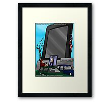 Kindle Public Library by Londons Times Cartoons Framed Print