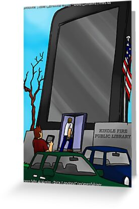 Kindle Public Library by Londons Times Cartoons by Rick  London