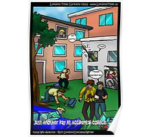 Another Day @ Accidental College by Londons Times Cartoons Poster
