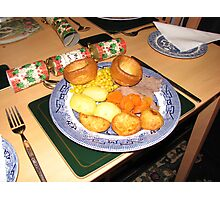 A Christmas Dinner Photographic Print