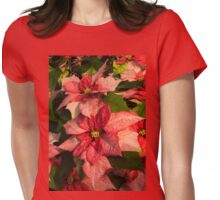 Exotic Speckled Poinsettia Blossoms - Christmas from the Tropics  Womens Fitted T-Shirt