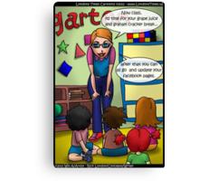 Facebook Kindergarten Class by Londons Times Cartoons Canvas Print