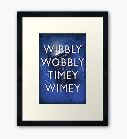 Doctor Who Timey Wimey Framed Print