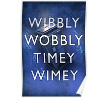 Doctor Who Timey Wimey Poster
